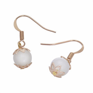 Round Double Ball Pearl Glow In The Dark Earrings - The GearBuyz Store
