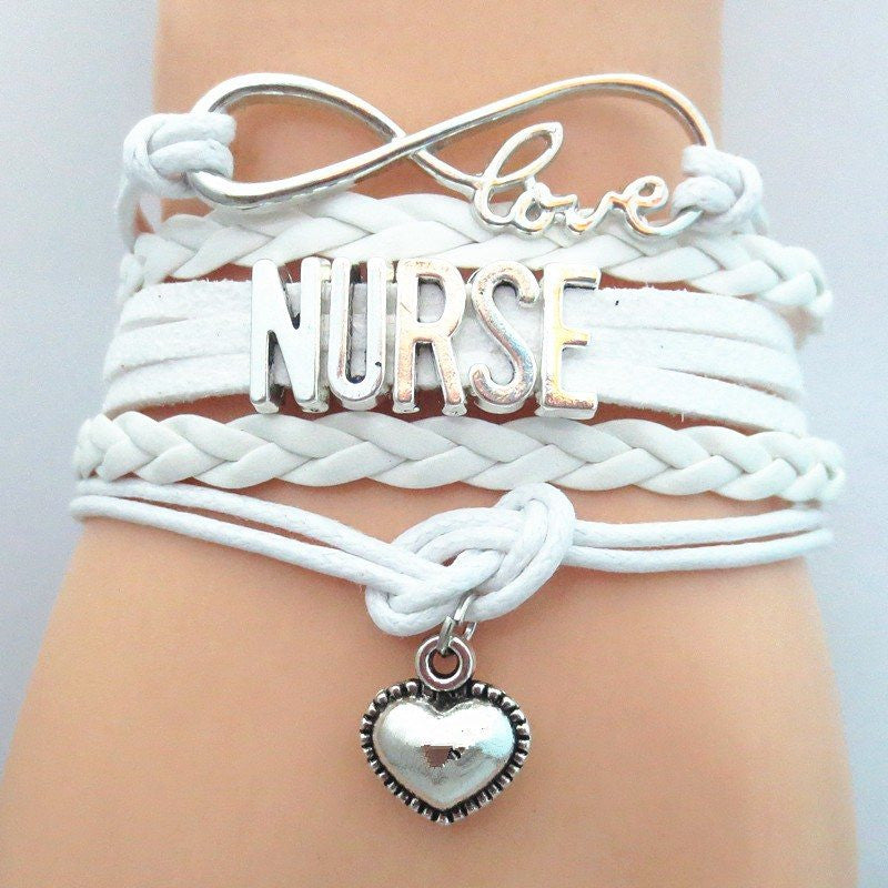 Infinity Love Nurse Bracelet With Hanging Medical Charm In 7 Great Colors - The GearBuyz Store