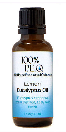Pure Oil of Eucalyptus citriodora, 1 oz (30ml)