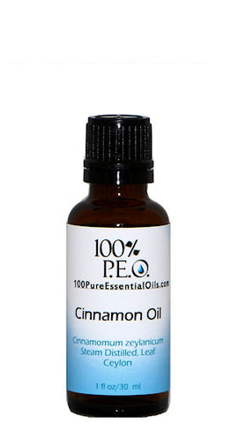 Pure Cinnamon Oil of Cinnamomum zeylanicum, 1 oz (30ml)