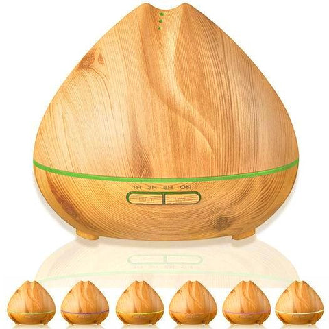 LED Woodgrain Ultrasonic Essential Oil Diffuser