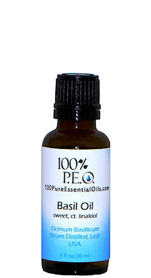 Pure Basil Oil of Ocimum basillicum, 1 oz (30ml)