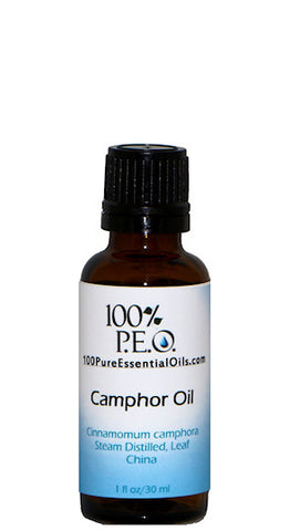 Pure White Camphor Oil of cinnamomum camphora, 1 oz (30ml)