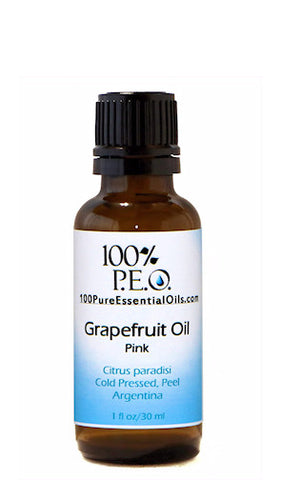 Pure Grapefruit Oil of Citrus Paradisi, 1 oz (30ml)