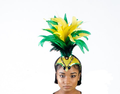 Showgirl feather headpiece