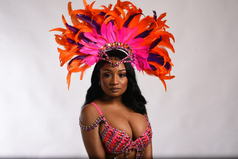 Feather headpiece and bra