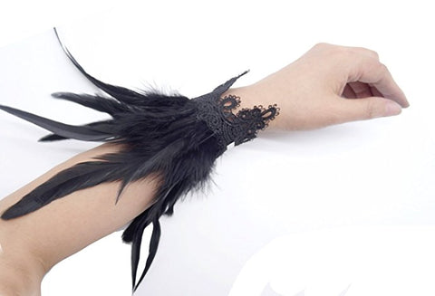 Feather feather wrist cuffs