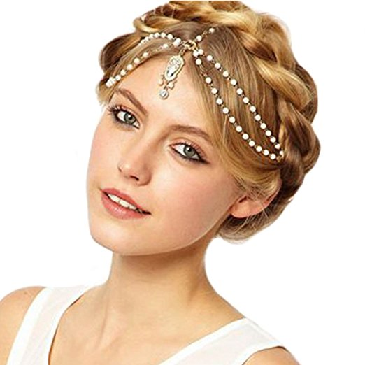 Jeweled headpiece headband