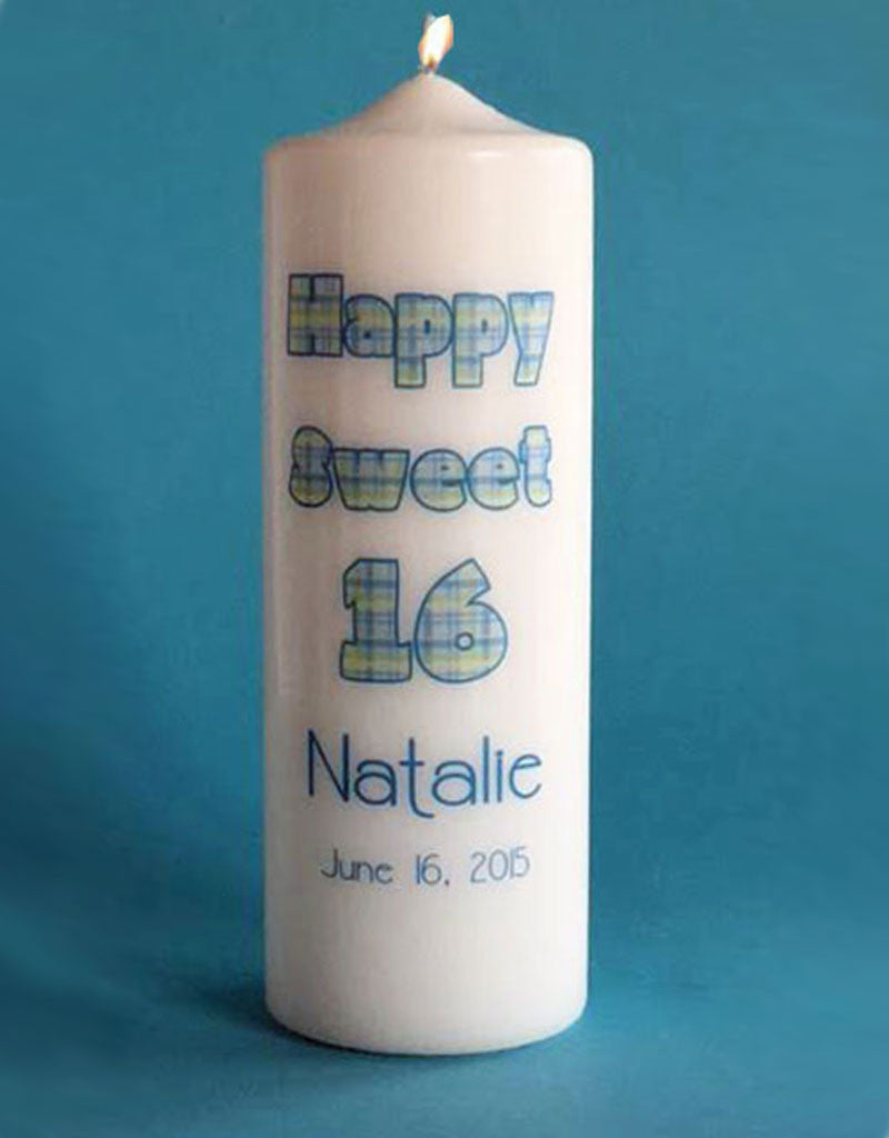 Birthday Milestone Candle Personalized
