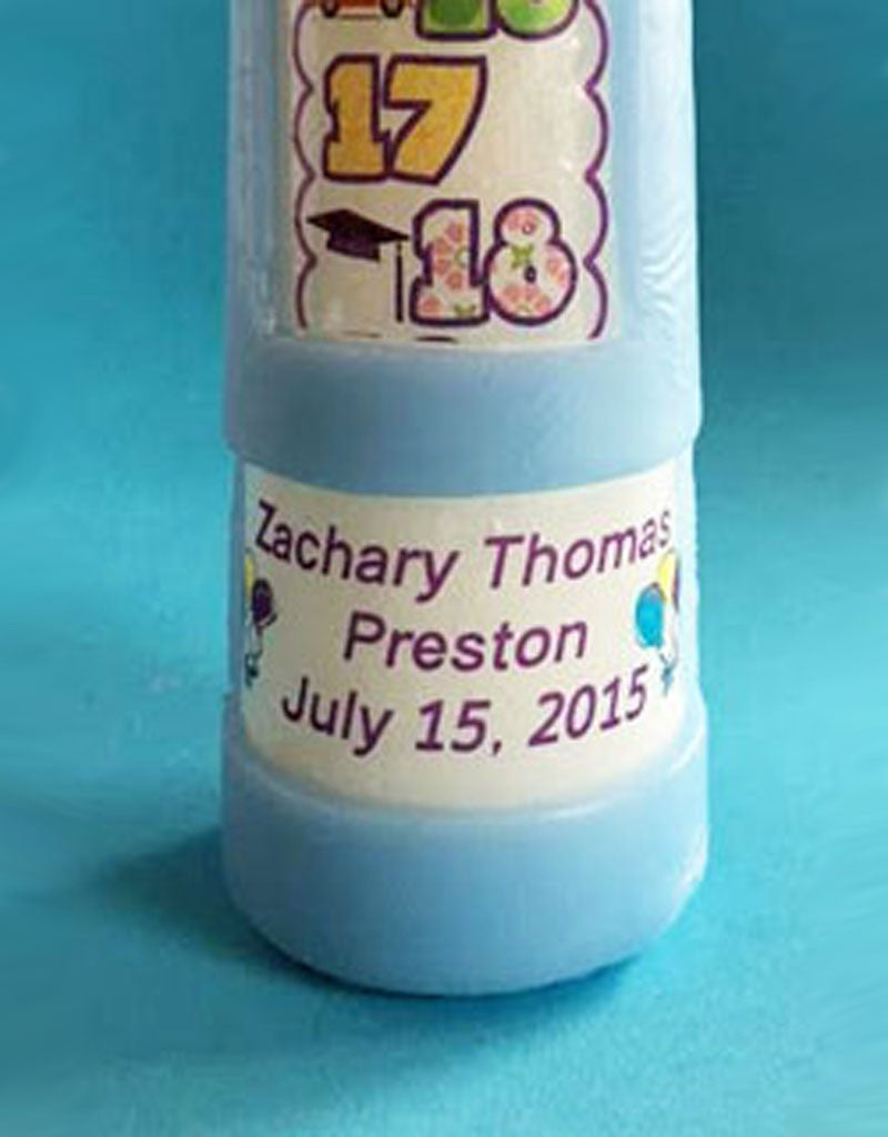 Personalized Contemporary Countdown Candle