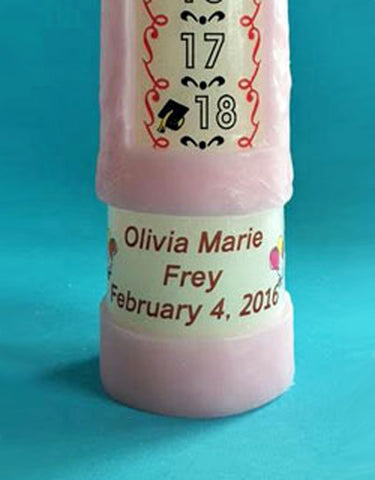 Personalized 1-18 Year Countdown Birthday Candle, Traditional
