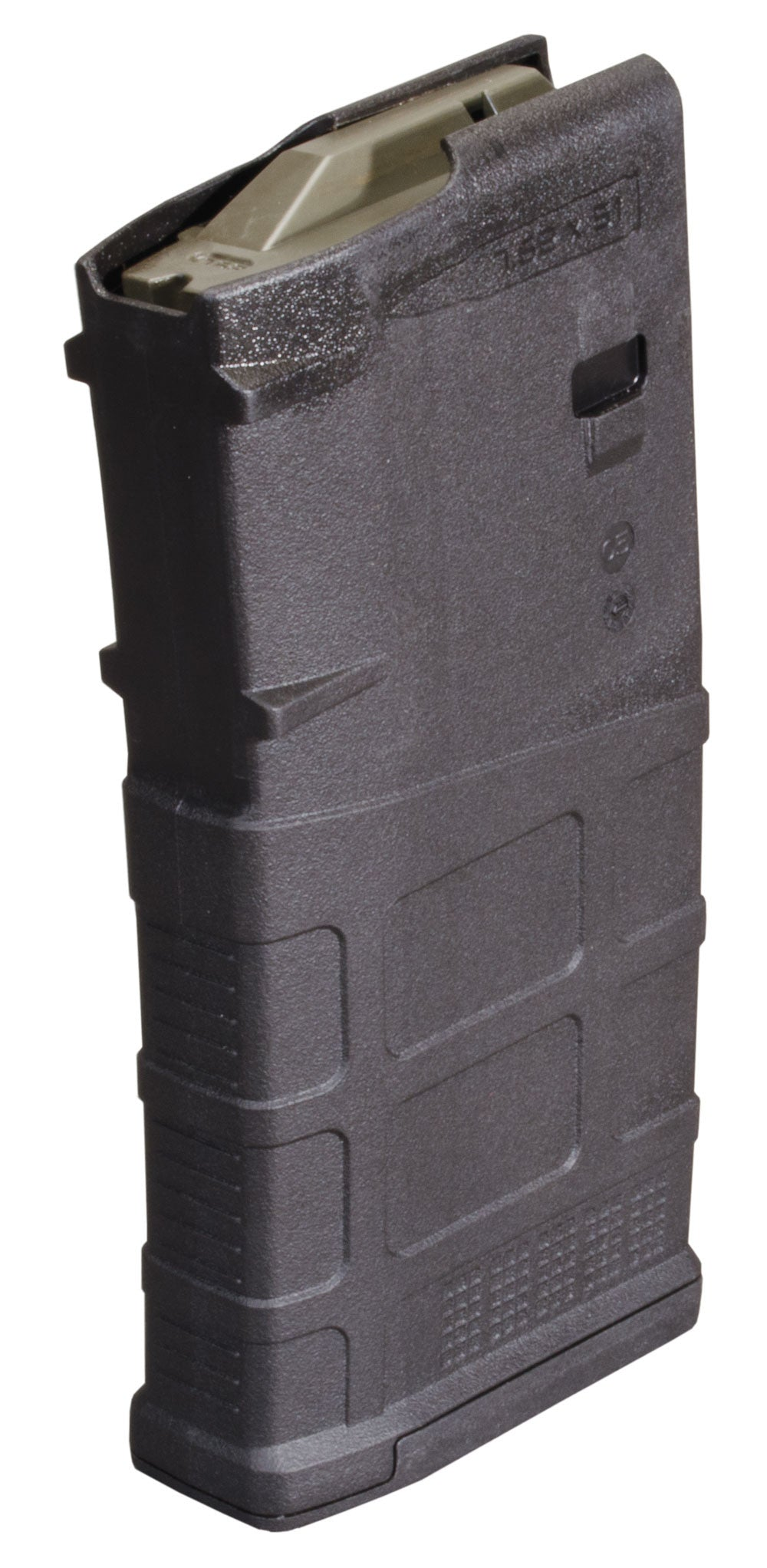 The 7.62x51 NATO (.308 Winchester) PMAG 20LR is a cost effective high  reliability magazine for SR25/M110 pattern rifles* featuring true 20-round  capacity, ...