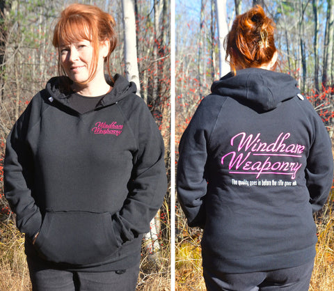 Windham Weaponry Black Hoodie V-Neck Sweat Shirt - for Women