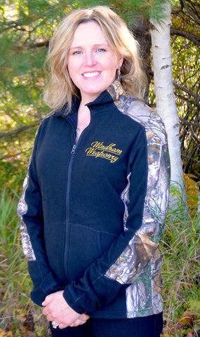Windham Weaponry Black & Camo Fleece Jacket - for Women