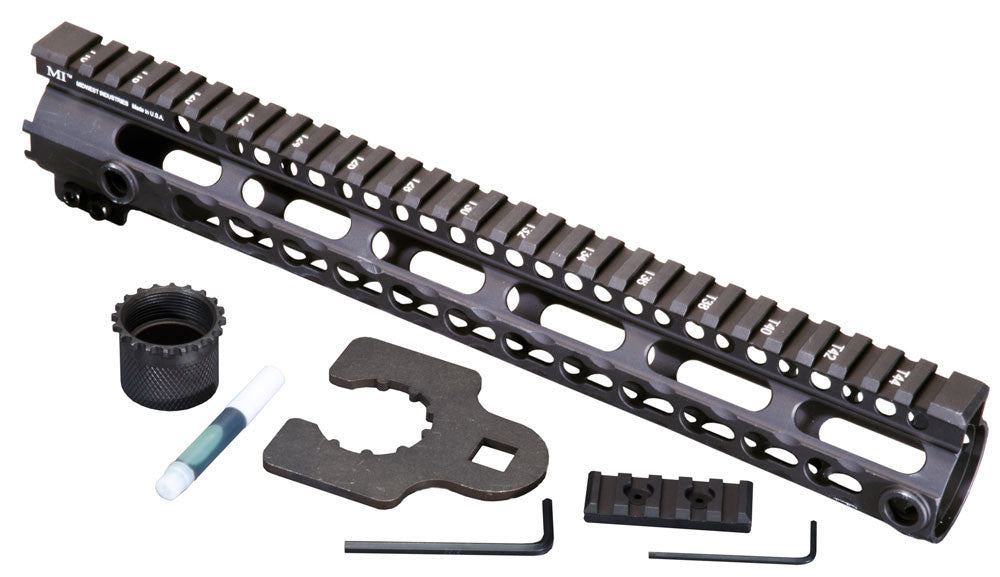 Midwest Industries SSK Key Mod 12 inch One Piece Handguard for .308 AR15 platform rifles