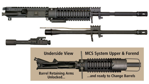 MCS Multi-Caliber Upper Receiver Assembly Kit for .223/5.56 with .300 Blackout.