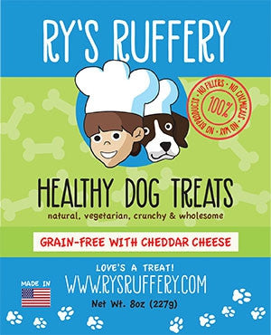 Ry's Ruffery Healthy Dog Treats: Cheddar Cheese 8oz