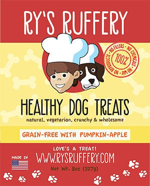 Ry's Ruffery Healthy Dog Treats: Pumpkin Apple 8oz