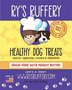 Ry's Ruffery Healthy Dog Treats: Peanut Butter 8oz