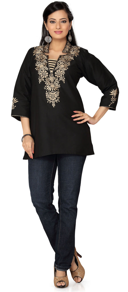 feb7b1f5d0d India Tunic Top Kurti Womens Embroidered Embroidered Indian Clothes ...
