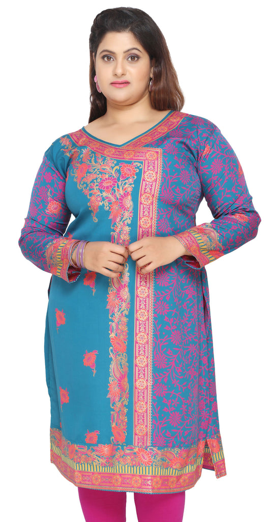 df4868b52bb08 India Tunic Long Top Kurti Womens Plus Size Clothes – Maple Clothing ...