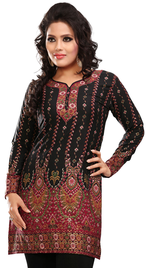 943e29ba0b4 India Long Tunic Top Kurti Womens Printed Indian Apparel – Maple ...