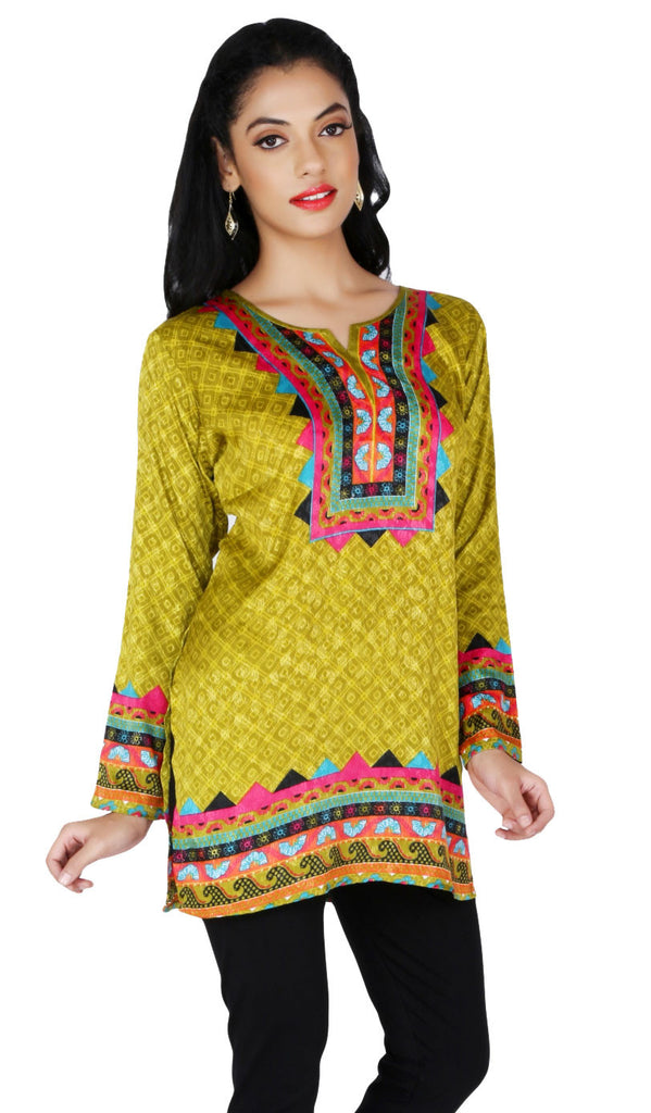 2ecb7e1cfe899 India Long Tunic Top Kurti Womens Printed Indian Apparel – Maple ...