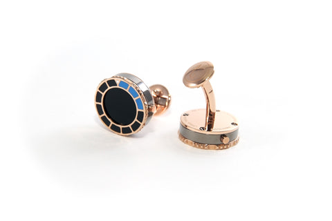 Watchlinks 4- Scuba Marine Rose Gold Black Epoxy