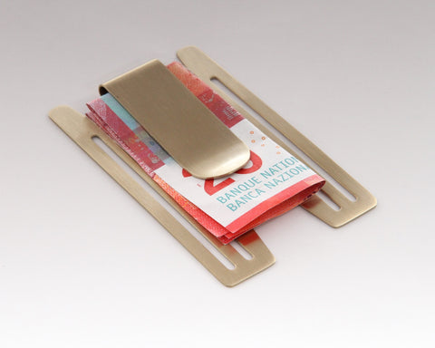 Champagne Money-Clip for Aluminum Credit Card Holder