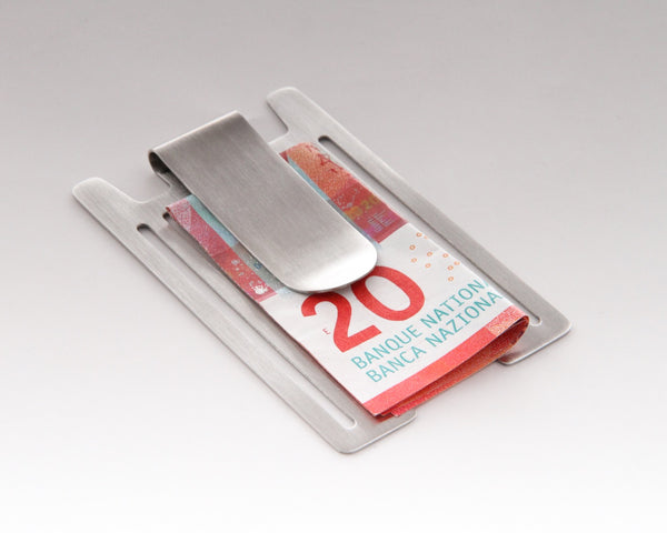 Stainless Steel Money-Clip for Aluminum Credit Card Holder