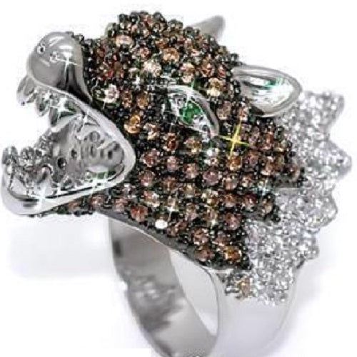 Chocolate Dragon Micro Pave CZ Ring
