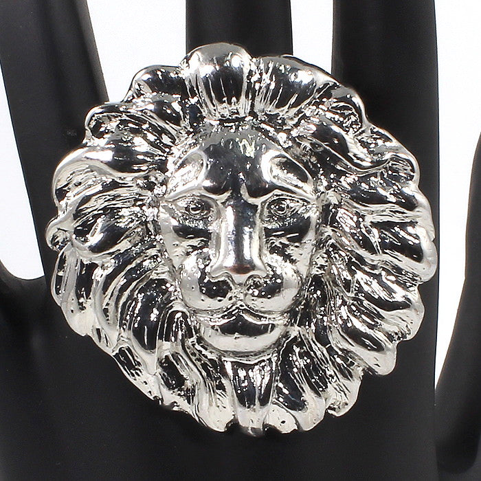 HUGE Lion Head Statement Accessory Ring