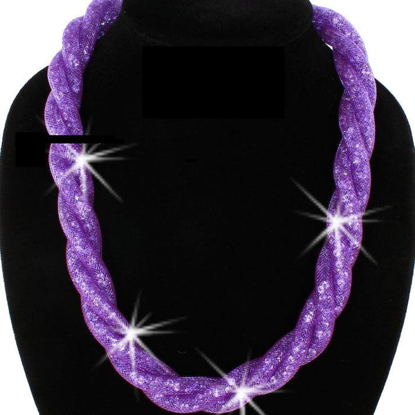 Purple Twisted Sparkle Starlight Necklace
