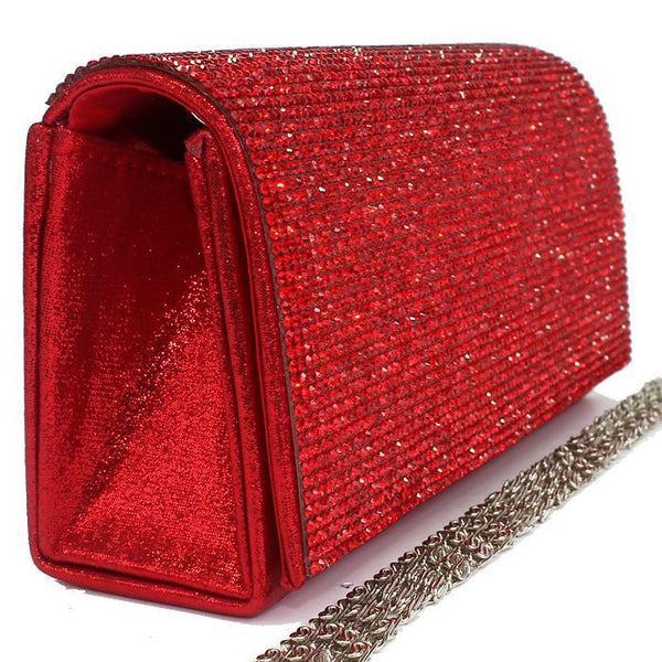 BLING Ruby Red Crystal Mini Clutch Bag