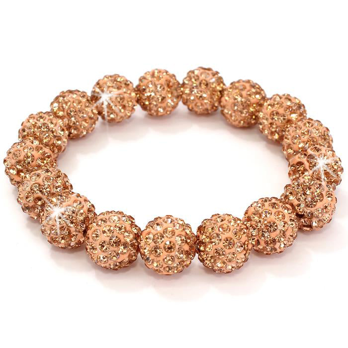 Colorado Topaz Pave Crystal Disco Ball Bracelet