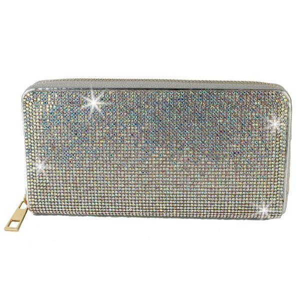 BLING Aurora Borealis Crystal Wallet Clutch