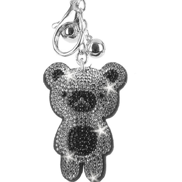PANDA Black & White Pave Crystal Bag Charm