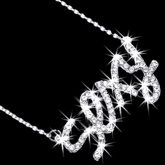 SEXY Pave Crystal Pendant Chain