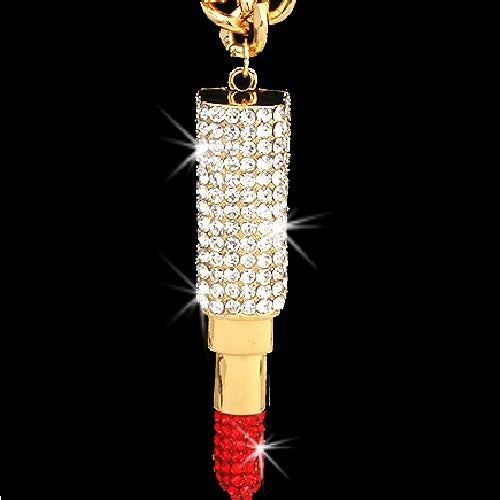 Lipstick Boss Pave Crystal Link Necklace