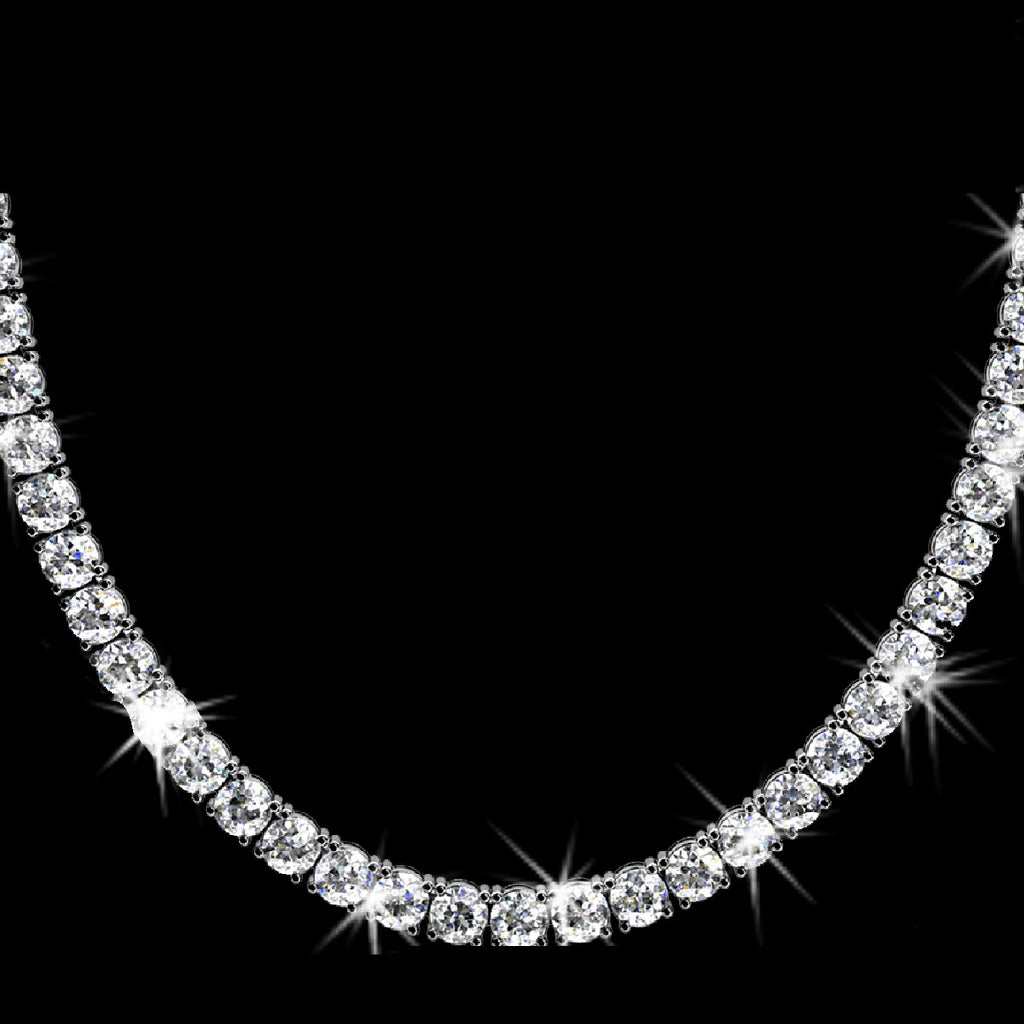 20ct CZ Diamond Tennis Necklace