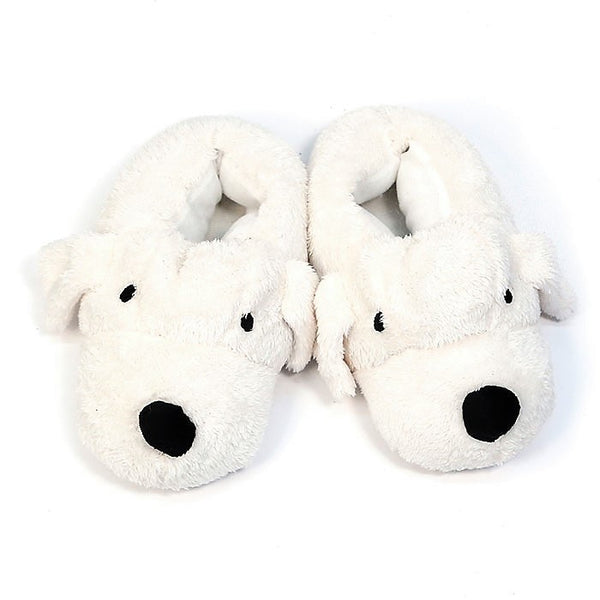 Comfy Non Slip Ivory DOG Slippers