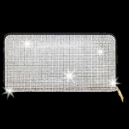 BLING Black & Silver Crystal Wallet Clutch