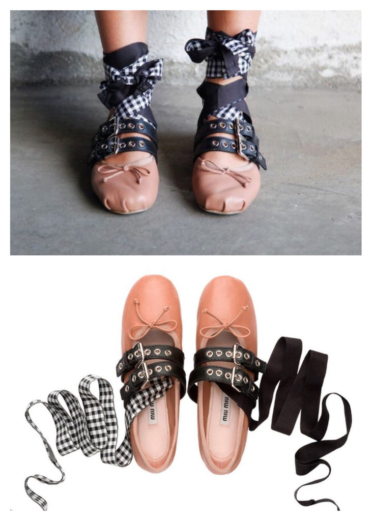 Miu Miu Rocker Ballerina Flat Shoes