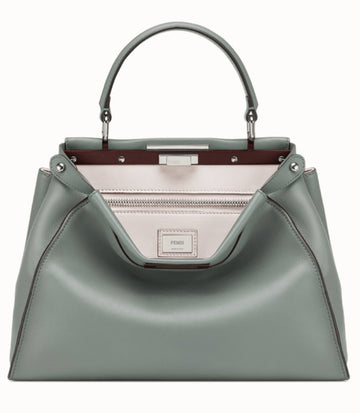 Fendi Bicolor Gray Medium Peekaboo Bag - Luxury Next Season