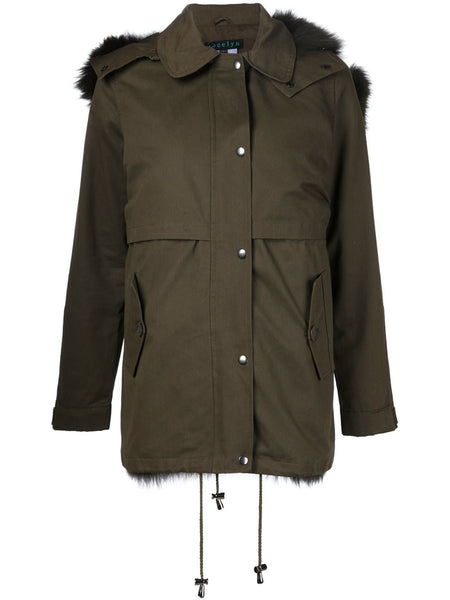 Jocelyn Green Fur Army Jacket