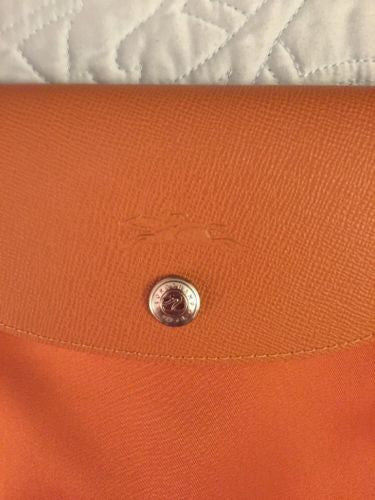 Longchamp Le Pliage Satin Orange Hangbag Bag