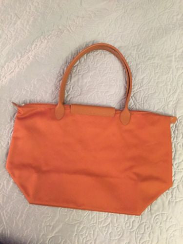 Longchamp Le Pliage Satin Orange Hangbag Bag - Luxury Next Season