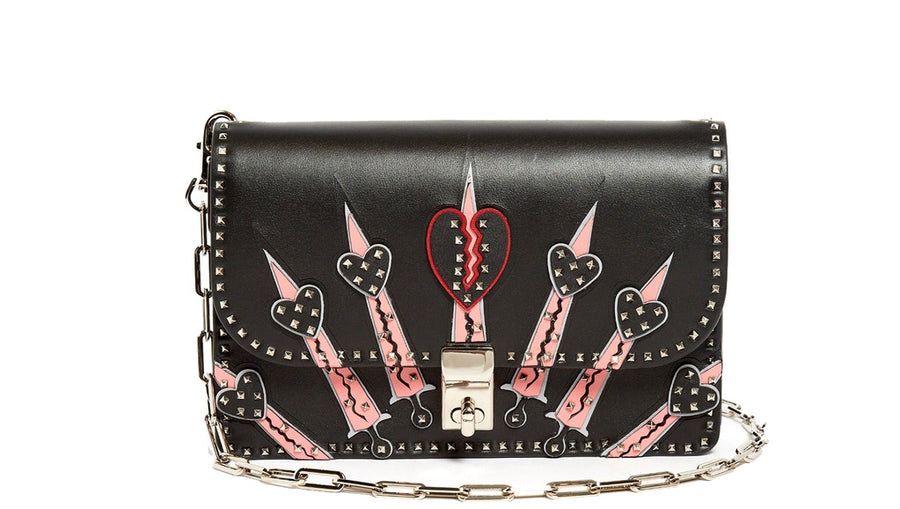 c77e064b5e8 Valentino Garavani Glam Lock Mini Love Blade Bag - Luxury Next Season ...