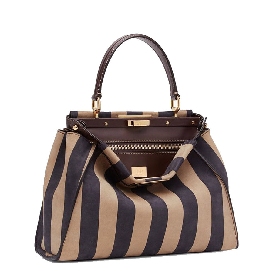 Fendi Medium Nubuck Pequin Peekaboo Bag