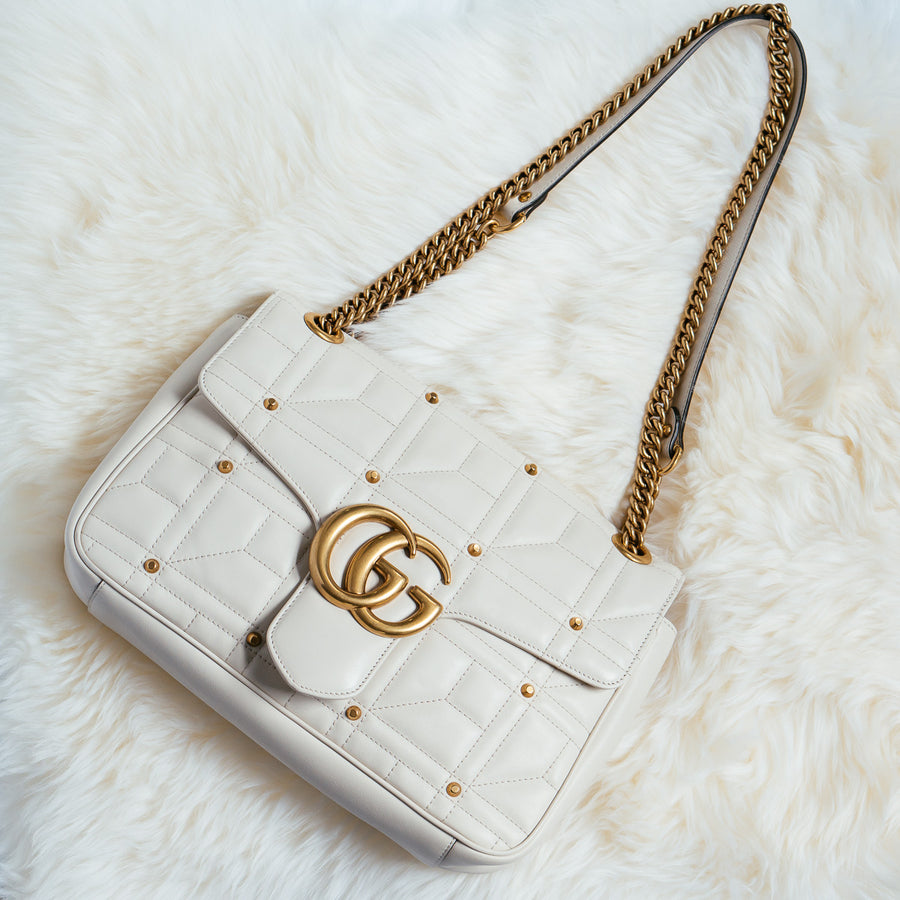Gucci GG Marmont Studded Shoulder Bag - Luxury Next Season